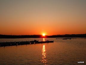 2009/9/1の夕日です。なんだか秋の夕日みたいです。