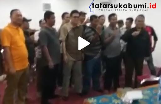 Foto Screen shot Video Kades deklarasikan dukung salah satu Paslon Capres di Sukabumi // Foto : Istimewa