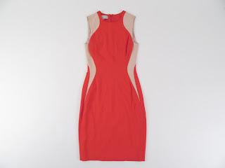 Stella McCartney Orange Color Block Sheath Dress