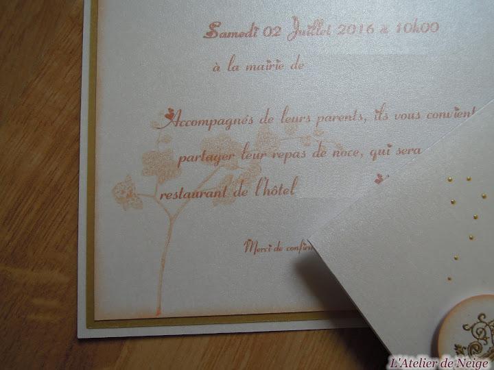 205 - Faire-Part Mariage  Joëlle et Jean-Claude 2 juillet 2016