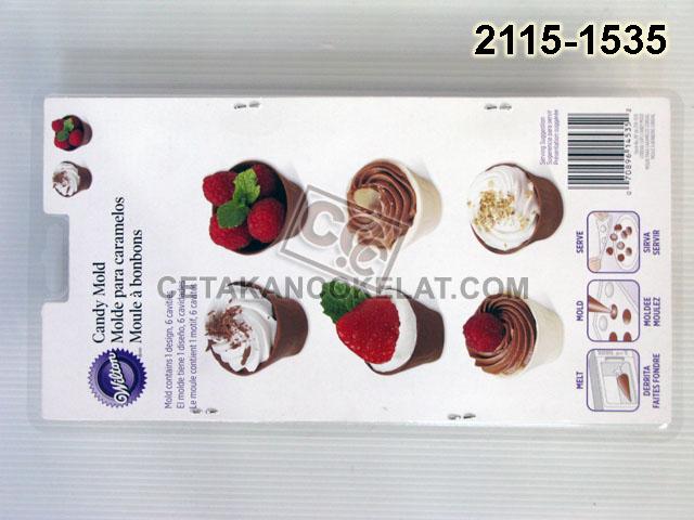 Cetakan Coklat cokelat 2115-1535 wilton Tray Cordial Cup