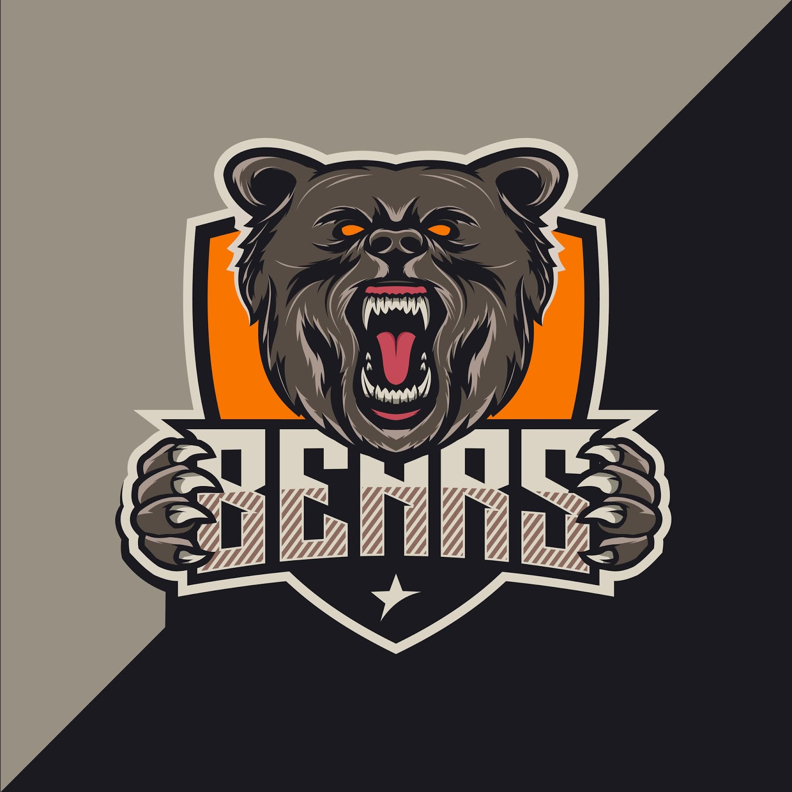 Bears Esport Logo Design Free Download Vector CDR, AI, EPS and PNG Formats