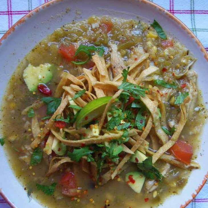 Roasted Green Chile Chicken Tortilla Soup Recipe | Yummly