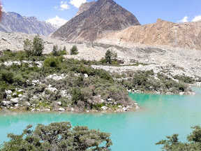 Batura Glacier Lake that can be seen right after the Shimshal Link Road on KKH