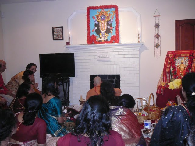 Swamiji conducts the Homa