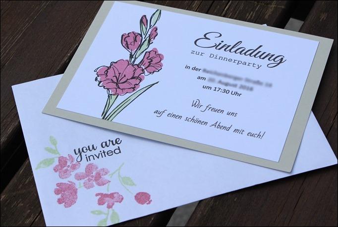 Dekoideen Dinnerparty Einladung Feier Stampin Up Aus Liebe