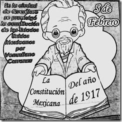 Dia de la constitución para colorear 5 de febrero para pintar