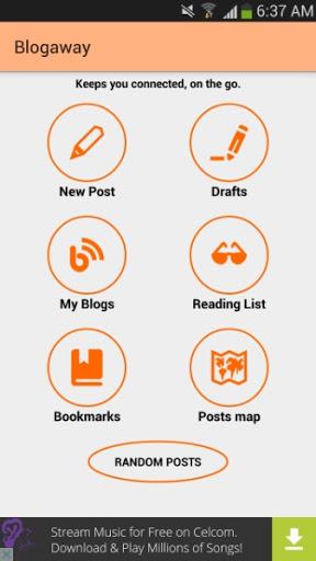 Blogging Guna Aplikasi BlogAway Melalui Handphone