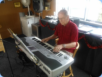 John Beales playing Jan Johnston's Korg Pa1X.