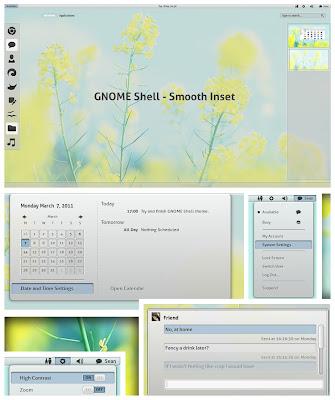 Smooth Inset - tema para o GNOME Shell