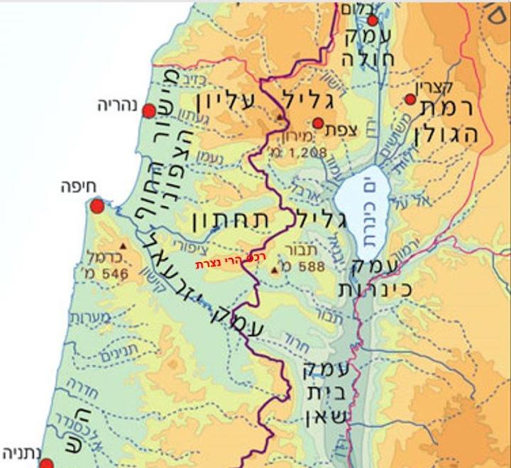 מגניב יער רכס כפר החורש ועיי הכפר מעלול במורדותיו - עמירם במשעולי ישראל OL-81