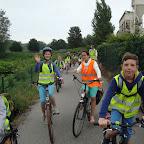fietstocht van het 5de naar park Kerkwijck 2016