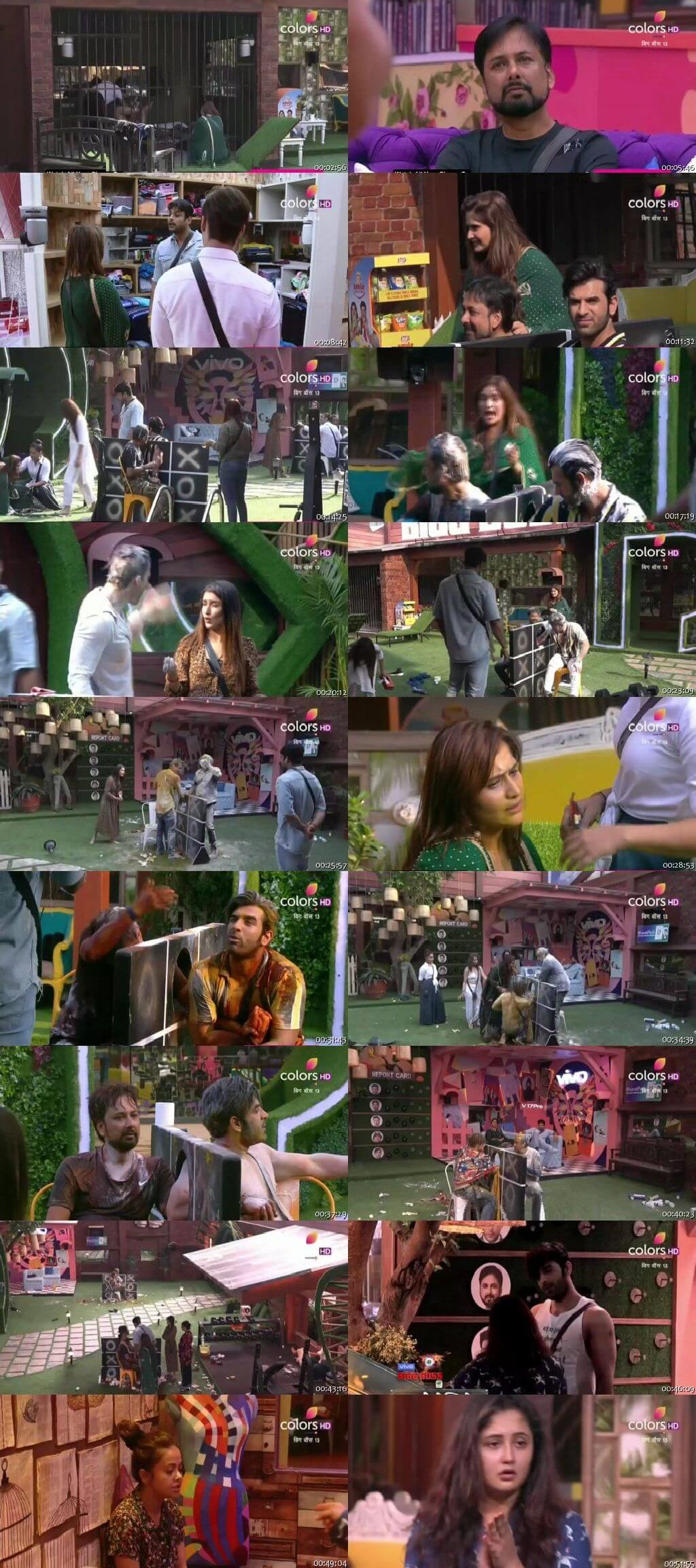 Screenshots Of Hindi Show Bigg Boss 13 October 2019 All Episodes 300MB 480P HD