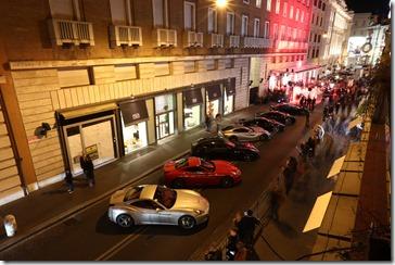 Parata Ferrari Roma_21 ottobre_esterno Ferrari Store