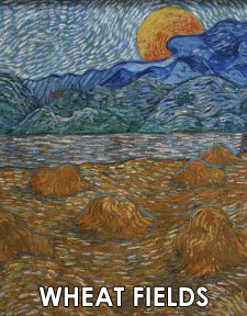 Vincent van Gogh Paintings of Wheat Fields