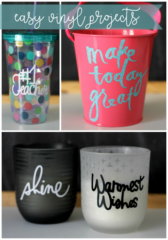 easy vinyl projects with Cricut