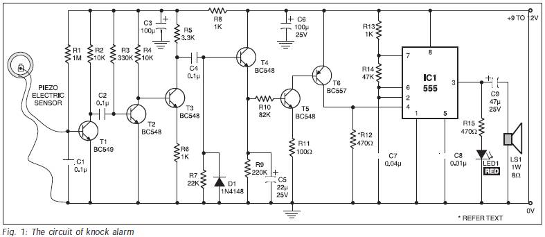 knock vibration activated alarm pdf