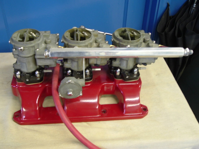 Max's 3-2 manifold, this was his brother's, it was used on a boat.
