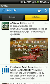 Search #olasc14 on Twitter