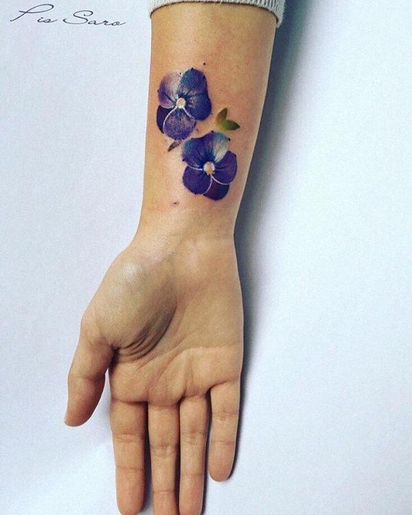 este_azul_aquarela_flor_da_tatuagem