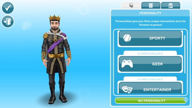 sims freeplay how to give your sim a pesonality