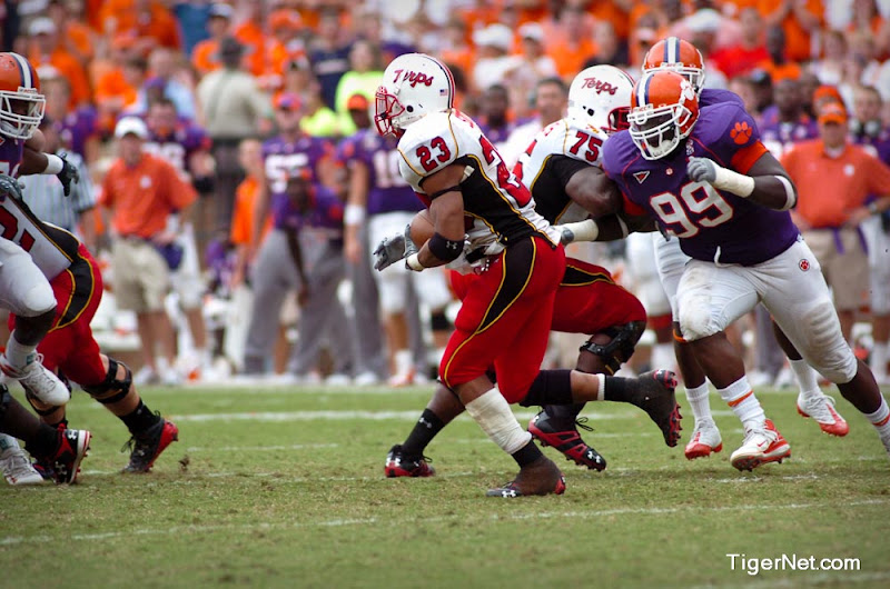 Clemson vs. Maryland Photos - 2008, Football, Jarvis Jenkins, Maryland
