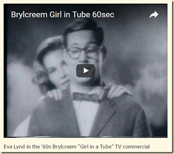 Eva Lynd in Brylcreem Girl in the Tube ad 2