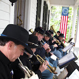 5th MI Band performs on the porch of the Van Raalte home