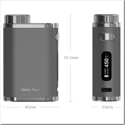 istick pico kit 17 1%25255B6%25255D - 【MOD】Mini Voltキラーなるか!?Eleaf iStick Pico Mod単体も26.99ドルで登場