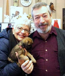 "Delighted with their new BT puppy, ""Lucy"".Keenan and Patti from Northern Wisconsin"