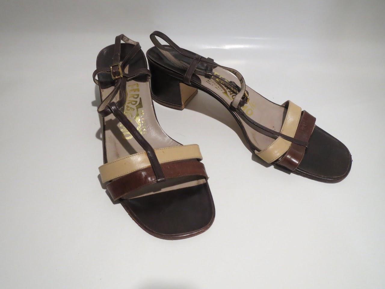 Salvatore Ferragamo Colorblock Sandals