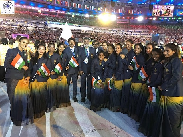 India's Women Hockey Team at the Opening Ceremony of Rio2016