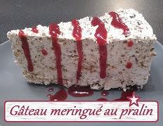 Gâteau meringué au pralin