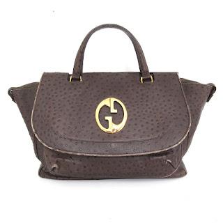 Gucci 1973 Ostrich Bag
