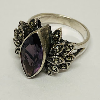 Sterling Silver & Purple Stone Ring