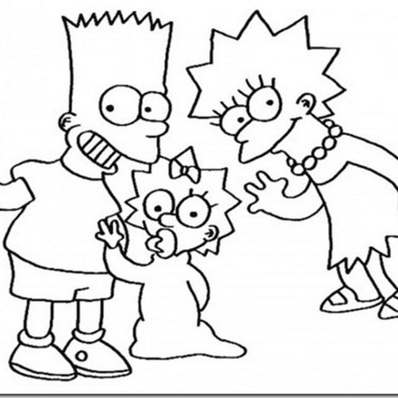 Colorear dibujos de la Familia Simpson
