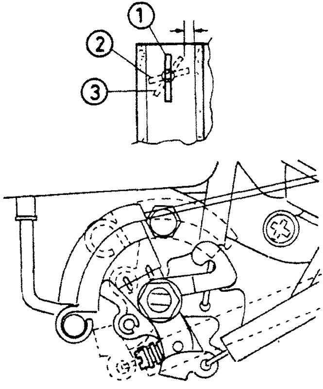 Проверка открытия воздушной заслонки при полном открытии дросселей