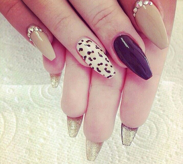 Wild French Tip Nail Designs: Wild Leopard Print Nail Designs For 2017