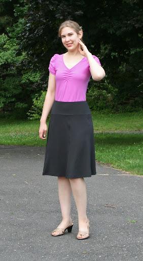 Style Arc Gorgeous Gore knit skirt (4-way Swiss nylon/acrylic knit)