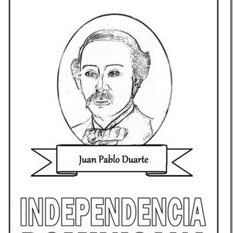 Independencia de la república Domincana para colorear