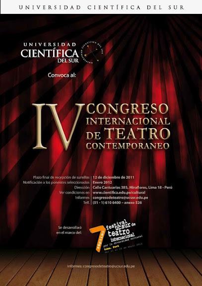 Perú: Congreso y Festival de Teatro Internacionales
