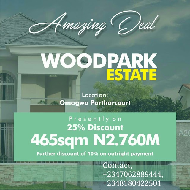 WOODPARK ESTATE, OMAGWA, PORT HARCOURT, RIVERS STATE(LAND FOR SALE)