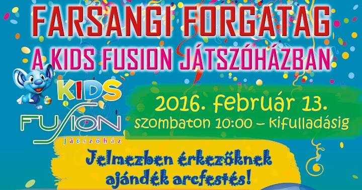 Farsangi forgatag a Kids Fusion Játszóházban 2016