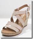 Gabor patent wedge sandal