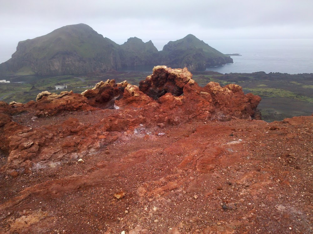 On top of a volcano