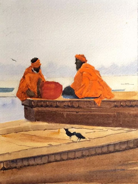 ....An Art Attempt -  ..Learning by doing!: Banaras Impressions
