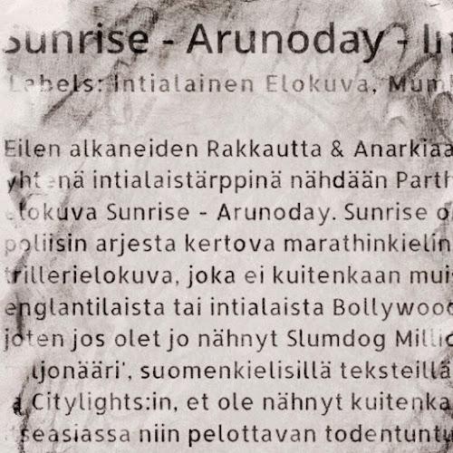 Sunrise - Arunoday -leffa-arvio