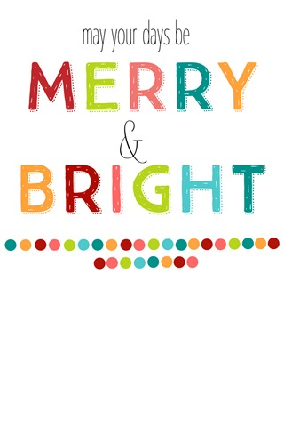 merry and bright gift tag printable