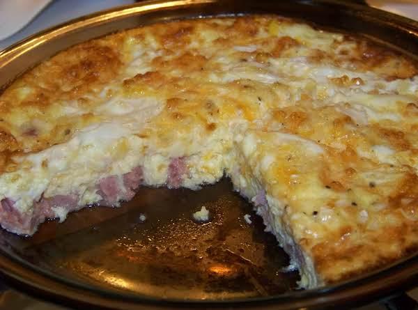 Ham N' Cheddar Quiche Recipe