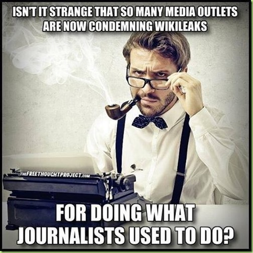 media outlets vs journalists vs wikileaks